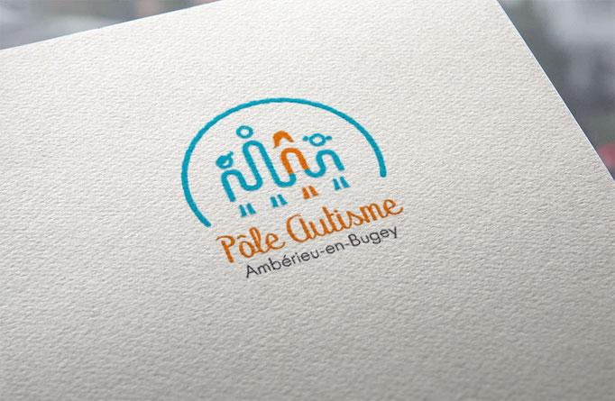 Agence de communication écoresponsable Un Degré Cinq à Bourg-en-Bresse : création du logo du pôle autisme d'Ambérieu-en-Bugey