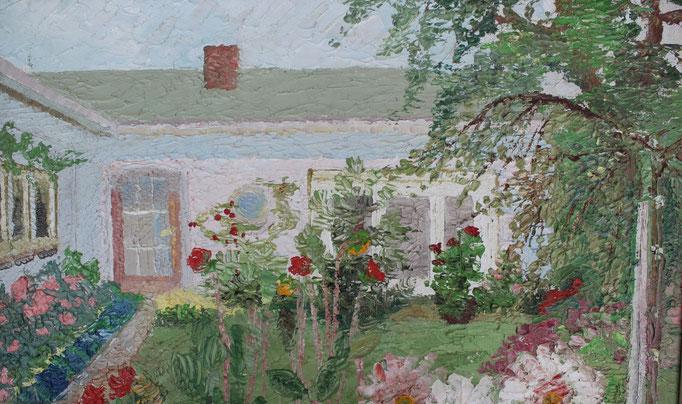 Dieses Ölbild des Hauses von Friedel Thoms ist heute im Besitz der neuen Eigentümer des Anwesens.
