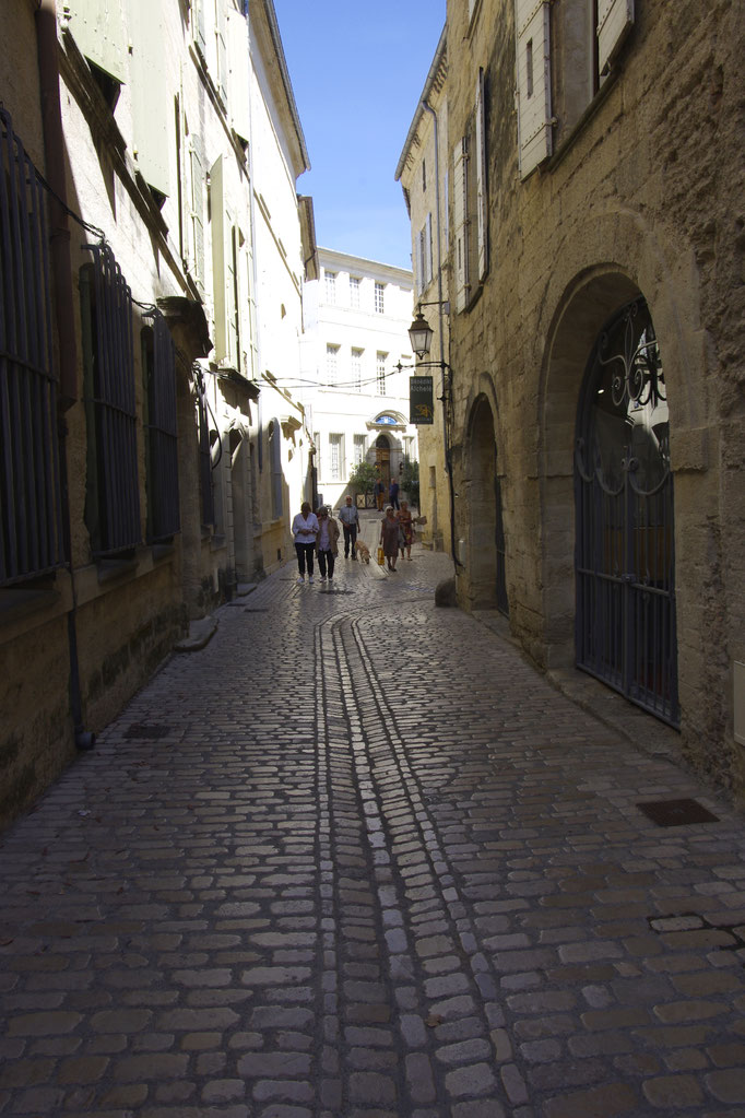 cobbled street in Uzès