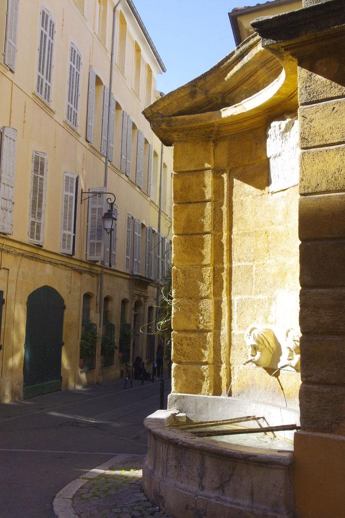 Ein Brunnen in Aix-en-Provence