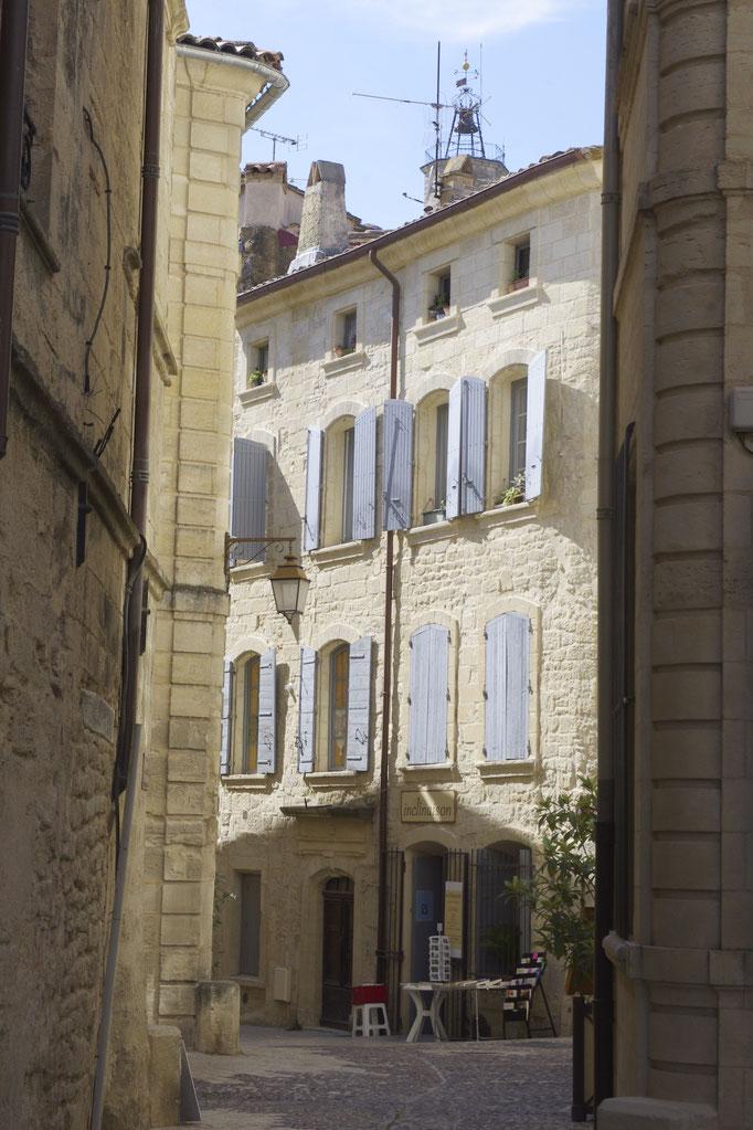 Schöne Häuser in der Fussgänger Zone