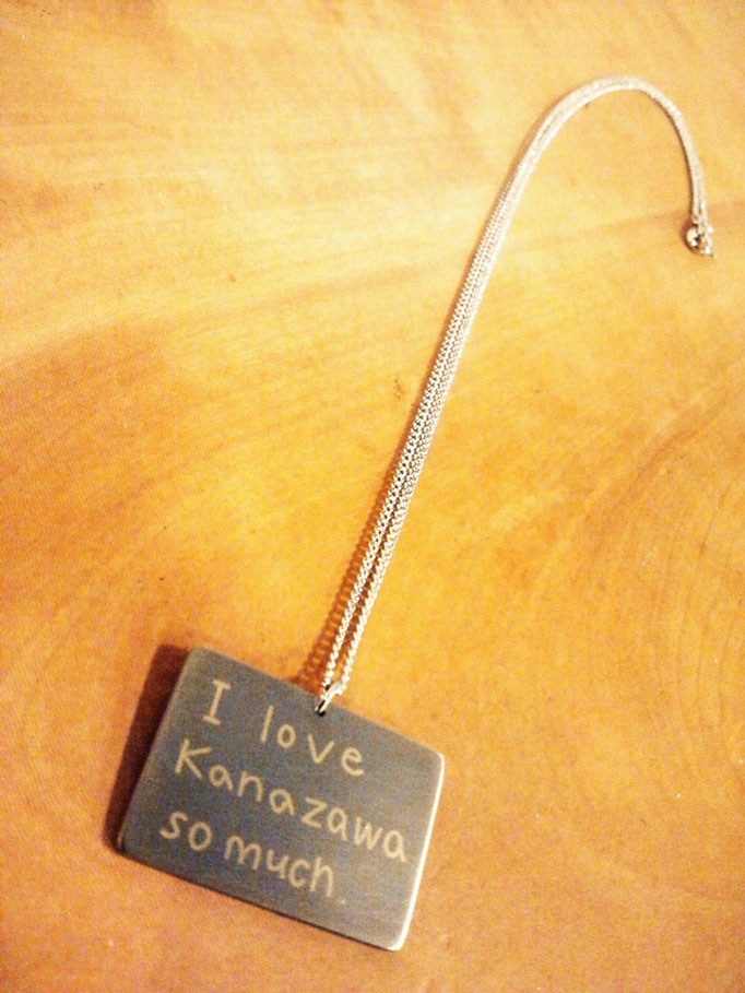 ネックレス  素材 チタン 象嵌 18金