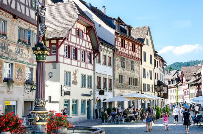 Mittelalterliches Flair in Stein am Rhein | (c) Luca Casartelli