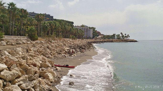Playa del espigón de El Morlaco