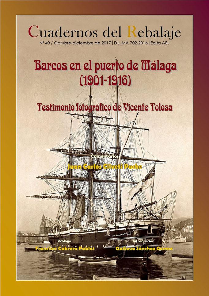 40.- Barcos en el puerto de Málaga (1901-1916). Fotografís de V. Tolosa