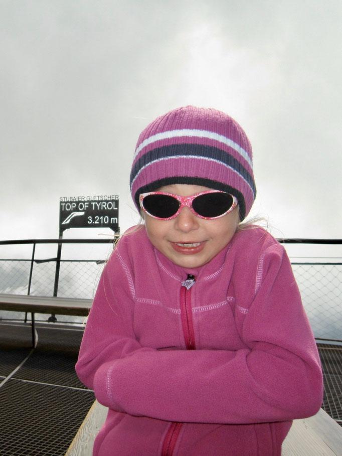 Aber es war sehr kalt oben auf dem Top of Tyrol