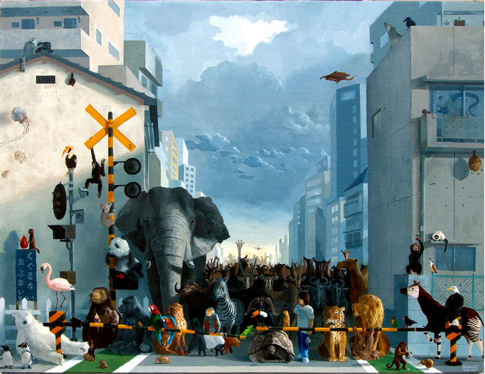 The Japanese railroad crossing Ⅱ  開かずの踏切Ⅱ 2008