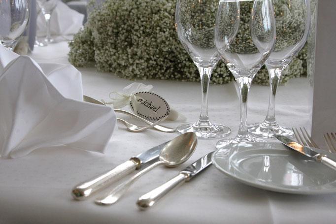 Tischdekoration Hochzeit  |  Seehotel Waldstätterhof  |  Brunnen