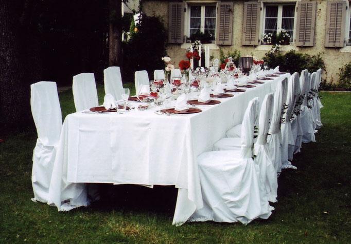 Tischdekoration Gartenfest     Olten