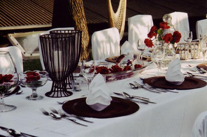 Tischdekoration Gartenfest  |  Olten