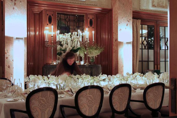 Tischdekoration     Hotel Montana Luzern