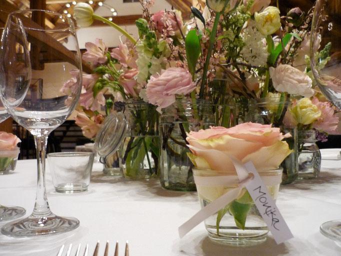 Tischdekoration Hochzeit  |  Schloss Liebegg Gränichen
