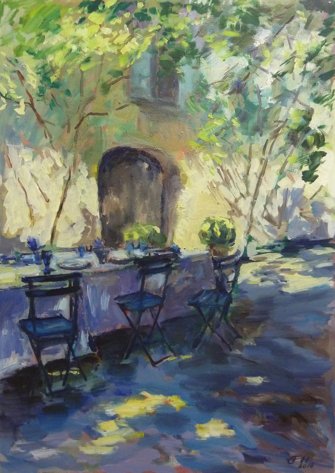 The Light Of Provence, Öl_Lwd.50x70cm