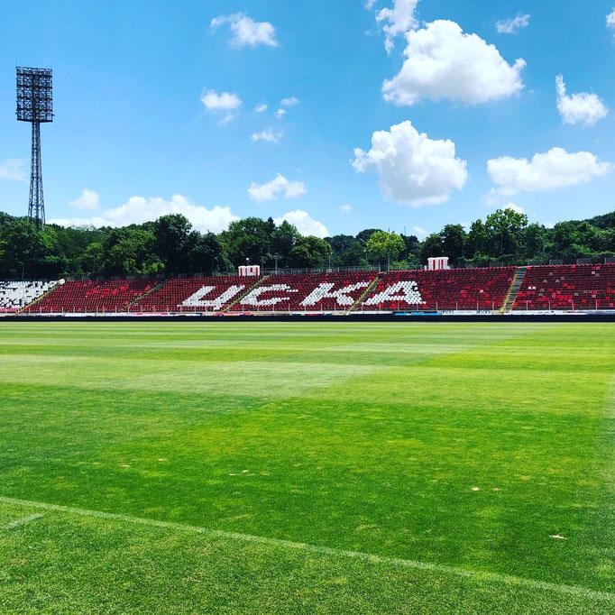 Das Stadion in Sofia präsentierte sich in einem hervorragenden Zustand