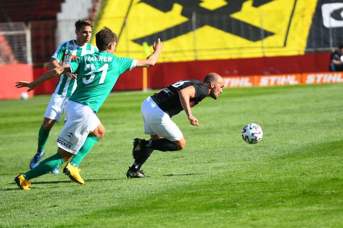 Jimmy Hoffer konnte den Mattersburgern einige Male enteilen, zu einem Torerfolg kam er diesmal nicht