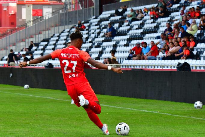 Ein wichtiger Bestandteil der Defensive war wie immer Emanuel Aiwu