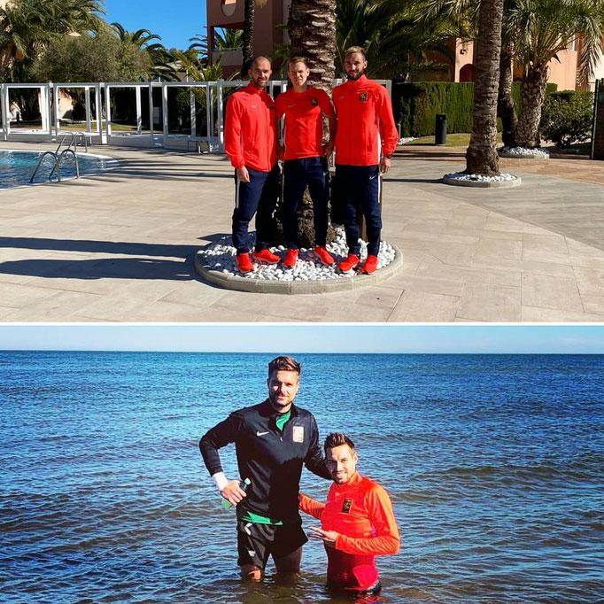 Auch das Teambuilding kommt am Trainingslager in Spanien nicht zu kurz