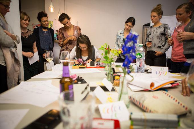 Foto @Michi Bundscherer: Lettering Workshop mit Petra Wöhrmann