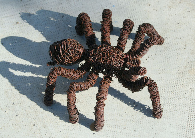 Tarantula  in iron wire, artdeev 40 cm , metal art,  sculpture d'insecte, recyclage