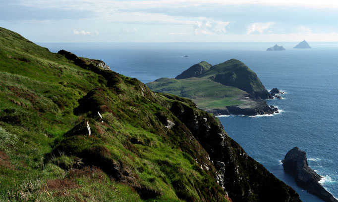 Blick zu den Skellig Islands