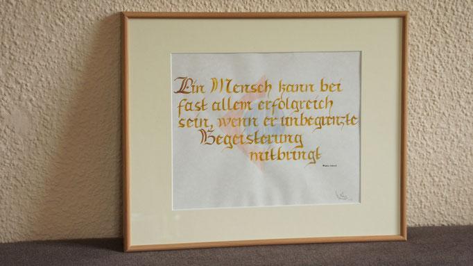 """""""Unbegrenzte""""...kalligrafie 2013  (41 cm x 51 cm)  verkauft"""