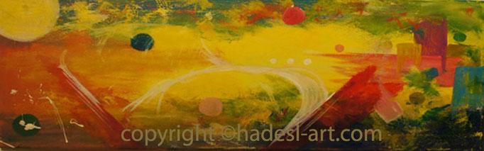 """Hoffnung""...Acryl auf Leinwand 2011  (30 cm x 80 cm)  verkauft"