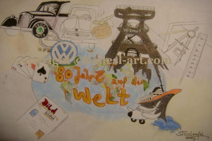 """""""Dein Leben""""...Copic u. Touch auf Papier 2008, 42x30 cm"""