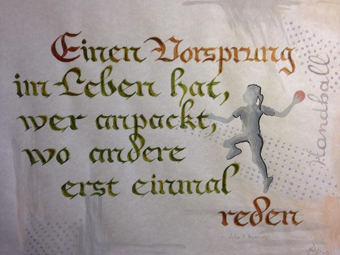 """""""Vorsprung""""...kalligrafie 2015  (41 cm x 51 cm)  verkauft"""