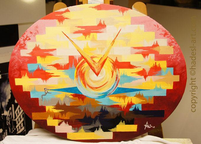 """""""Füreinanderdasein""""...Acryl auf Leinwand 2014  (50 cm x 50 cm)  verkauft"""