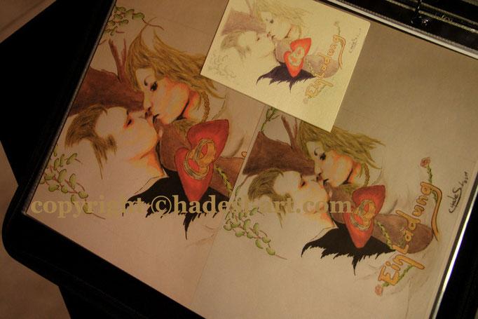 Flyer-Einladung für Hochzeit 2011  verkauft