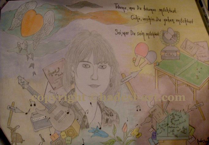 """""""Lebensweisheiten""""...Copic u. Touch auf Papier 2009  (30 cm x 42 cm)  verkauft"""