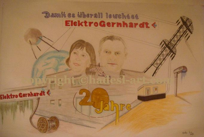 """""""20 Jahre Erfolg""""...Copic u. Touch, Buntstifte auf Papier 2010, 42x30 cm"""
