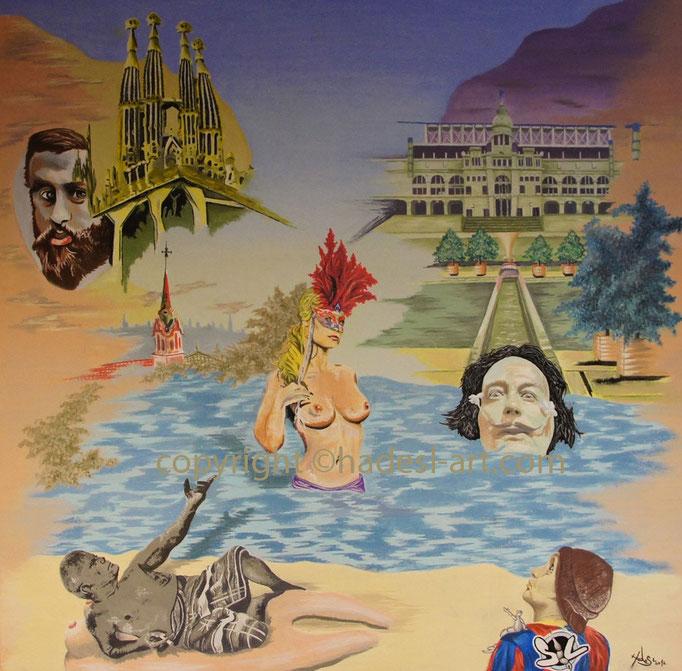 """""""Barcelona pur""""...Öl auf Leinwand 2012   (87 cm x 87 cm)"""