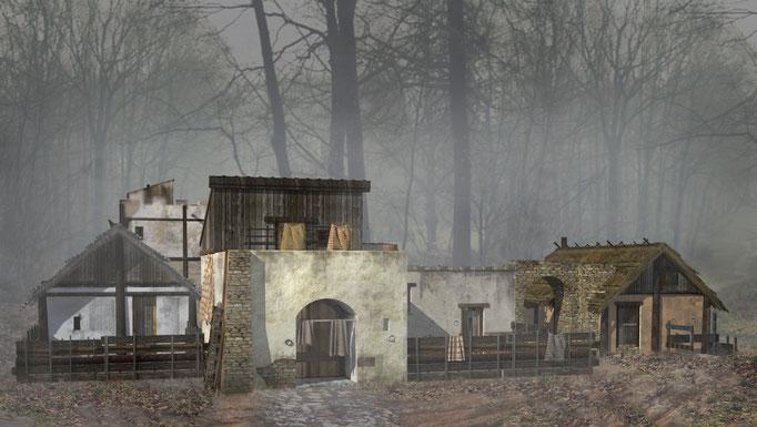 SCAPE3D_Inexpugnata terra: casa a corte