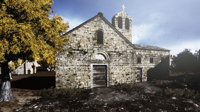 SCAPE3D_Inexpugnata terra: chiesa S. Cuono al 1421