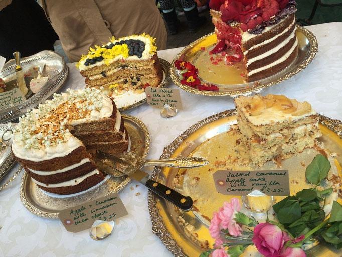 ケーキのデザインがとても可愛い