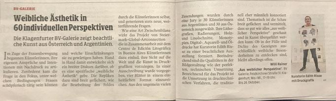 Kleine Zeitung, Okt. 2019