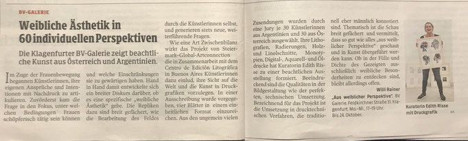 Kleine Zeitung Kärnten, Okt. 2019