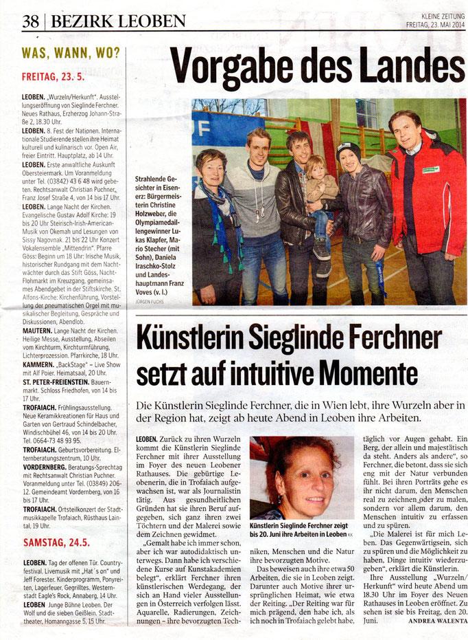 Kleine Zeitung, Juni 2014