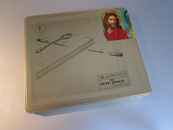 Goldene CD Hülle mit original Jesus Klebeband