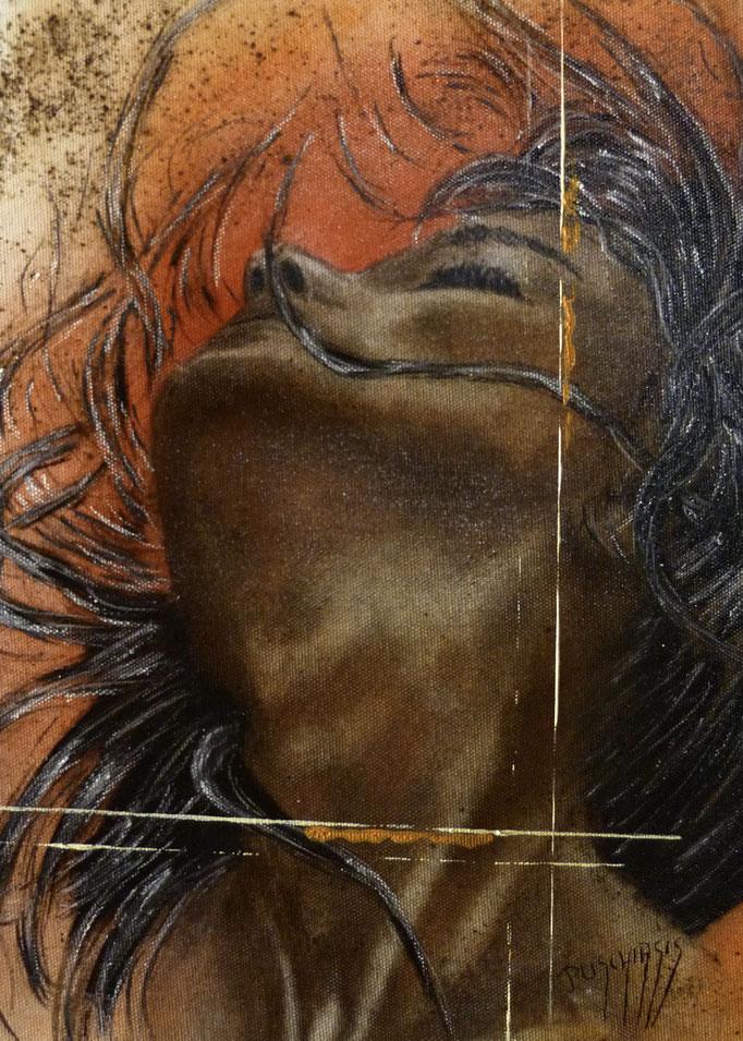 Josepha 27x35cm Huile sur toile