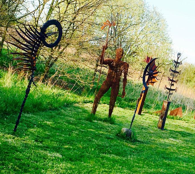 Geschmiedete Gartenskulpturen In Oldenburg Kunstschmiede