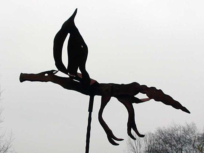 Metallobjekt - Skulptur - Drache - Entwurf und Gestaltung Marc Wehmer