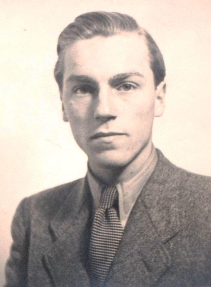 Heinz Traimer als 18jähriger Abiturient in München.