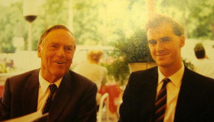 Traimer mit seinem Sohn Matthias Traimer (um 1990).