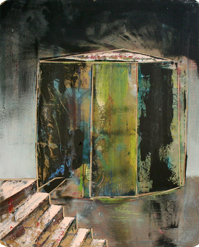 ,,Kiste no. 2'' 2016 / 110x81 cm Acryl