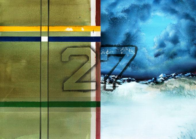 ,,siebenundzwanzig'' 2016 / 100x150 cm Acryl