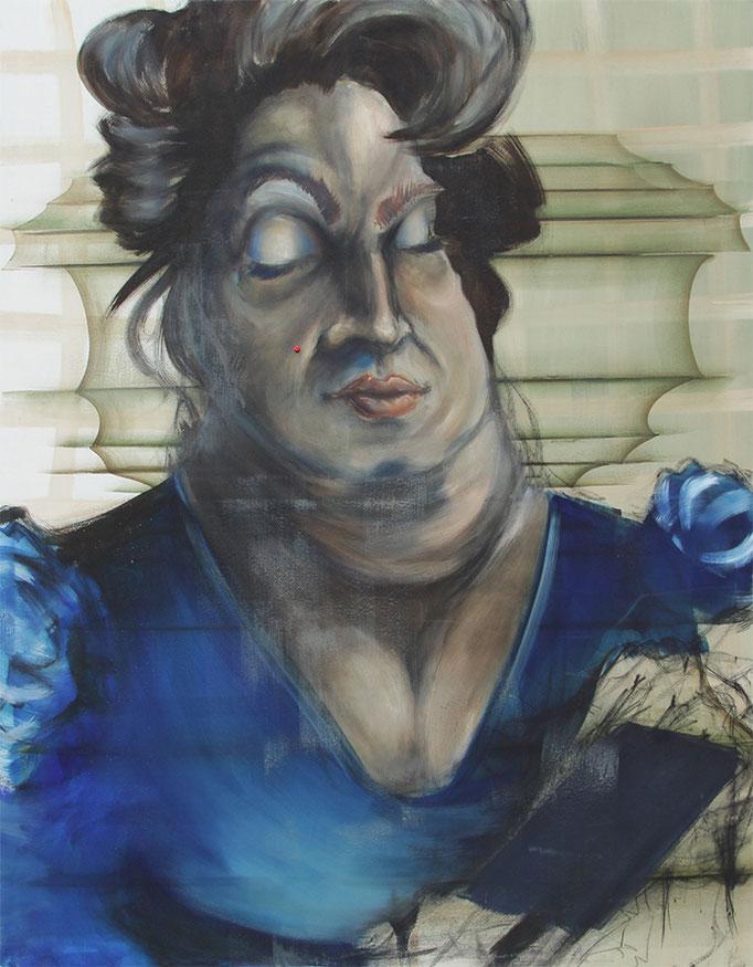 ,,dicke Berta'' 2016 / 155x200 cm Mischtechnik