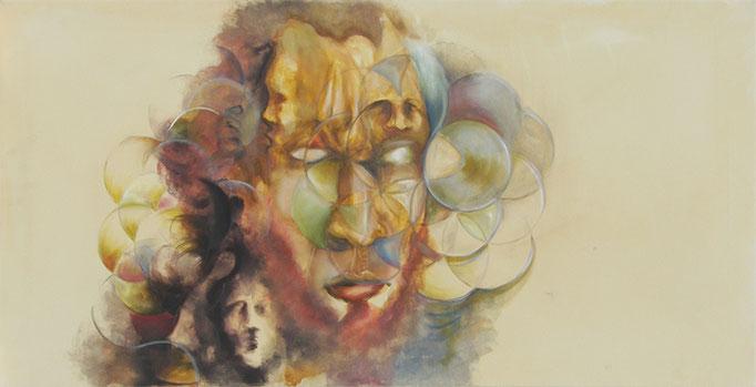 Selbstbildnis 2014 / 60x120 cm Acryl