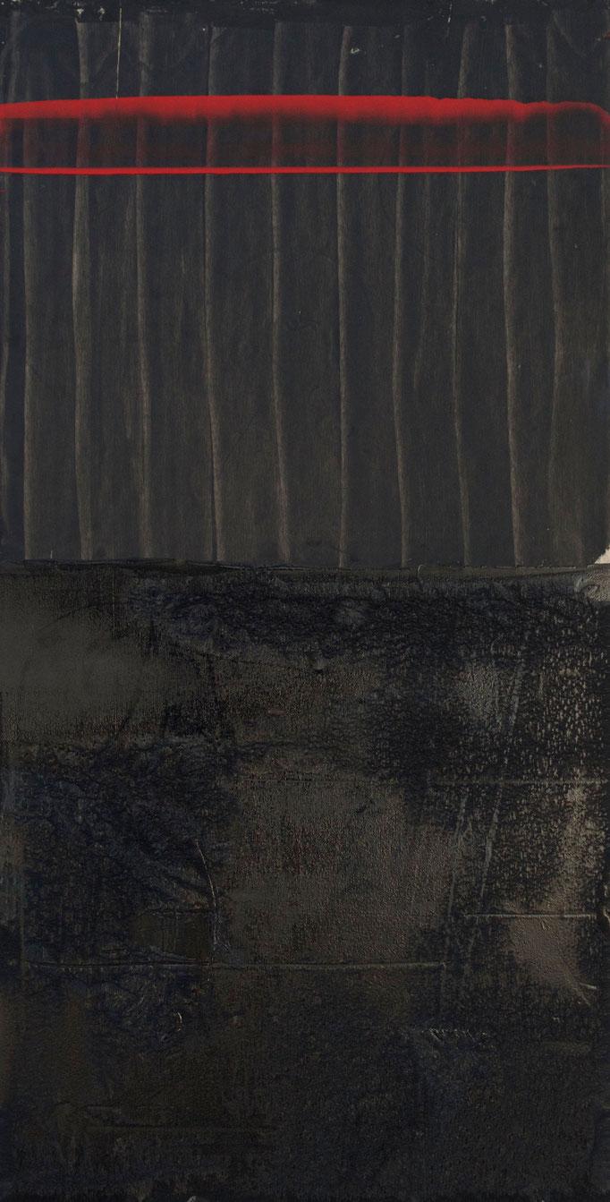 ,,the blackening'' 2017 / 120x60 cm Mischtechnik